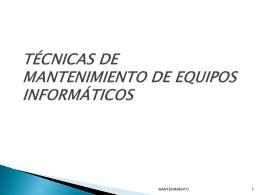 Mantenimiento - Ciudaddelosmuchachos-SMR