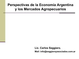 Perspectivas de la Economía Argentina y los Mercados