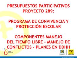 Presentación Presupuestos Participativos 289