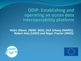 ODIP 3 prototype progress presentation