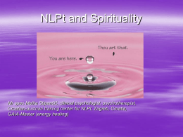 NLPt and Spirituality (Melita Stipancic)