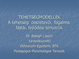 Dr. Balogh László: Tehetségmodellek