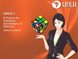 Unidad II - El Proceso de Enseñanza – Aprendizaje y la - E