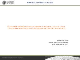 Jornadas de orientación 2011