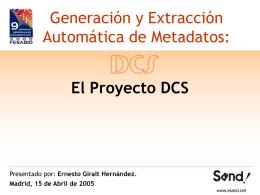 Generación y Extracción Automática de Metadatos