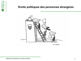 présentation sur les droits politiques des étrangers