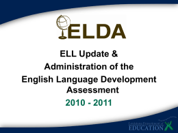Why ELDA? - Louisiana Department of Education