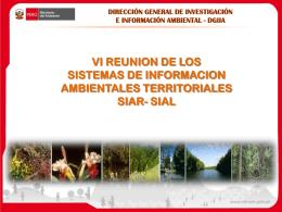 Diapositiva 1 - SIAR CAJAMARCA