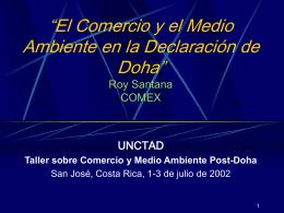 El Comercio y el Medio Ambiente en la Declaración de Doha