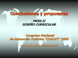 ii conclusiones diseno curricular 06