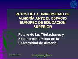creación del espacio europeo de educación superior (eees)