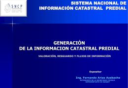 sistema nacional de información catastral predial