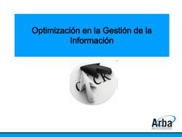 Optimización en la Gestión de la Información, Oscar Livio.