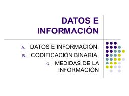 DATOS E INFORMACIÓN - adriyjuan