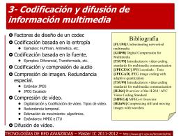 Tema 6: Codificación y compresión de información multimedia