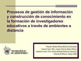 Procesos de gestión de información y construcción de conocimiento