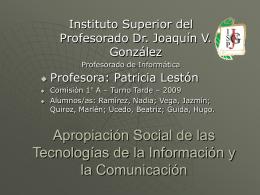 Apropiación Social de las Tecnologías de la Información