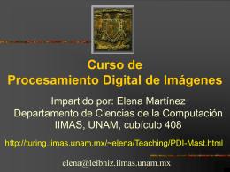 Curso de Procesamiento Digital de Imágenes