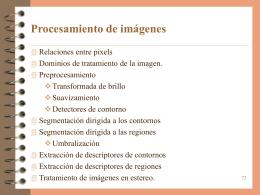 Introducción al procesamiento de imágenes, relaciones geométricas