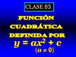 Clase 83: Función Cuadrática