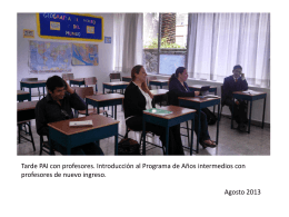 Fotos de profesores en capacitación