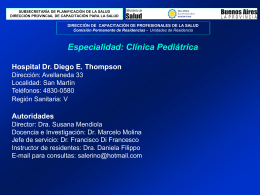 Hospital Diego E. Thompson - Residencias Profesionales