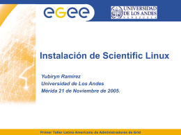 Scientific Linux CERN 3 (SLC3)
