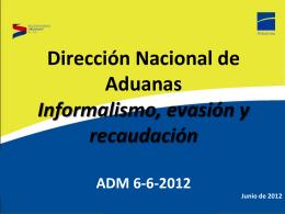 ADM 6-6-2012 - Dirección Nacional de Aduanas