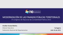 Modernización de las Finanzas Públicas Territoriales