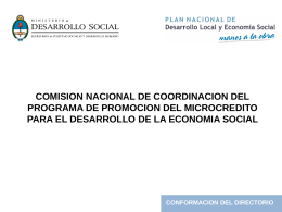 Comisión Nacional Microcréditos (DESCARGAR)