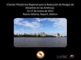 PLATAFORMA NACIONAL PARA LA REDUCCIÓN DE RIESGO