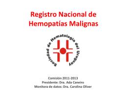 Registro Nacional de Hemopatías Malignas