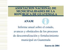 ASOCIACIÓN NACIONAL DE MUNICIPALIDADES DE LA