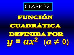 Clase 82: Función Cuadrática