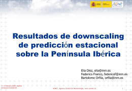 Resultados de downscaling de predicción estacional sobre la