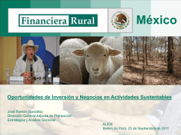 Financiera Rural: más allá del financiamiento tradicional