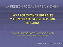 La actividad profesional en IIBB
