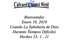 Acts 23: 1-5 (NASB) - Calvary Chapel West