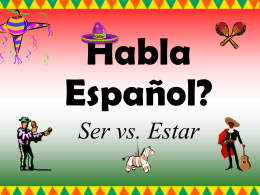 Ser vs. Estar - powerpointgames