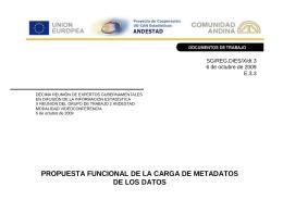 propuesta funcional de la carga de metadatos de los datos
