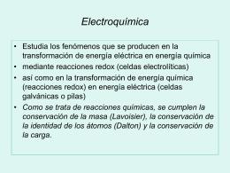 electroquímica y pilas
