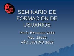 seminario ppt - Centro de Documentación