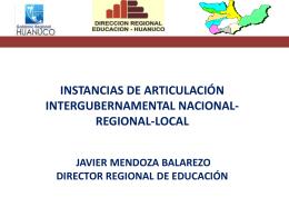 Javier Mendoza - Consejo Nacional de Educación