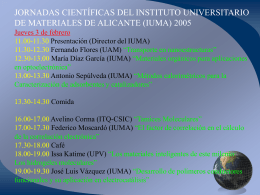 i jornadas científicas del instituto universitario de materiales