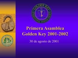 Bienvenidos Nuevos Miembros de Golden Key!!!