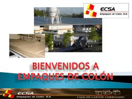 BIENVENIDOS A EMPAQUES DE COLÓN