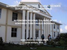 Autonomía Regional y el papel de los GTI - AVAR