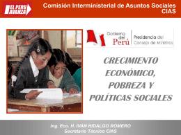 Comisión Interministerial de Asuntos Sociales CIAS – Secretaria