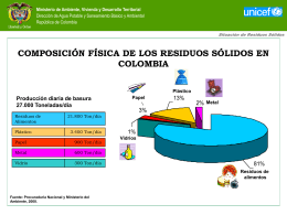 composición física de los residuos sólidos en colombia