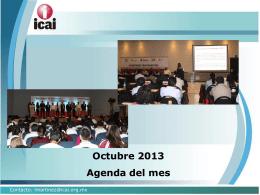 Octubre 2013 Agenda del mes - RESI
